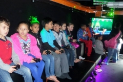Birthday Party Pic - on second row of seating